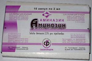 Действие и применение аминазина