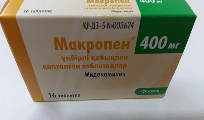 Лекарственные препараты из группы макролидов